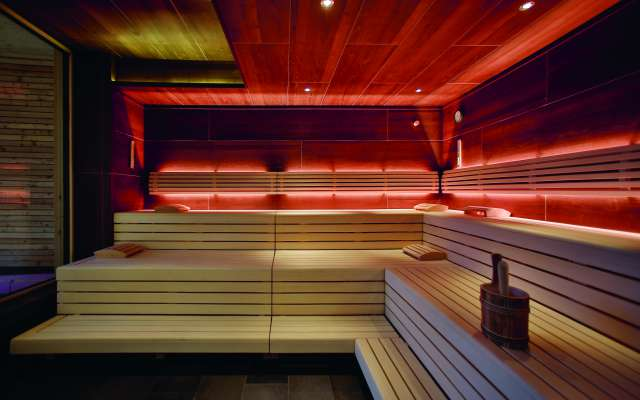 Finnish sauna in the Rosenalp SPA