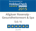 Recommended on HolidayCheck 2015