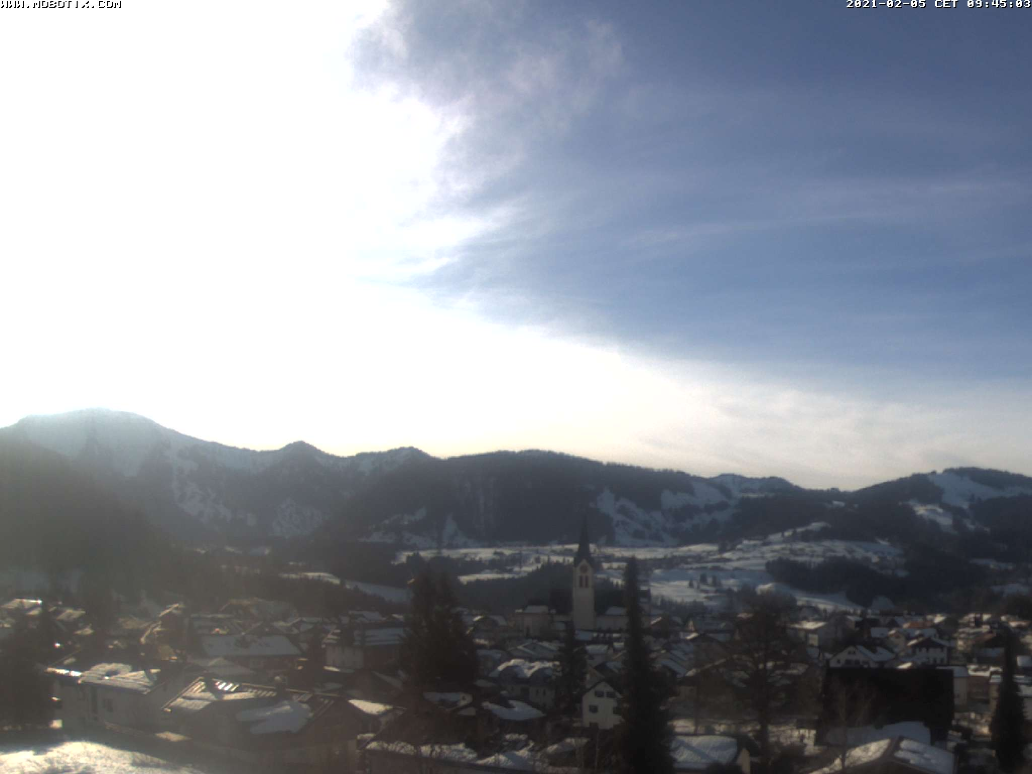 Webcam Skigebiet Oberstaufen - Hochgrat cam 3 - Allgäu