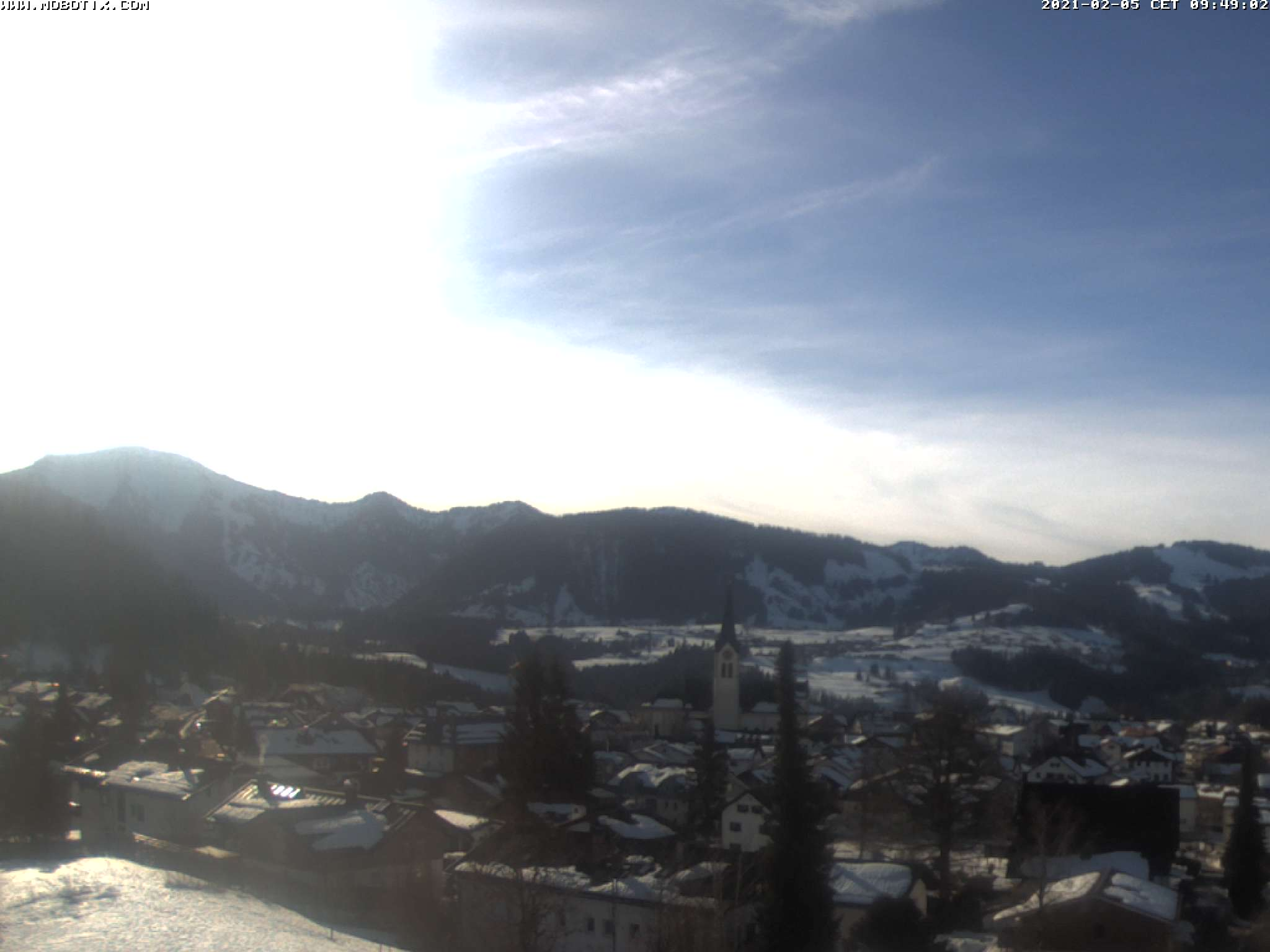 Webcam from the hotel Rosenalp in Oberstaufen, Allgäu, Bavaria